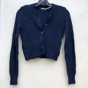 Urban outfitters navy knit cardigan